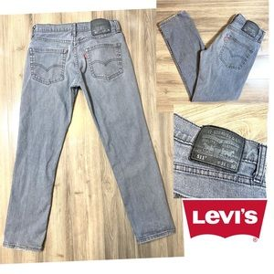 Levi's 511 Slim Straight Jeans Washed Gray 31/30
